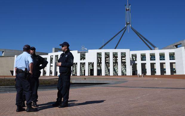 ตำรวจ AFP รักษาความปลอดภัยรอบรัฐสภา หลังมีแผนก่อการร้าย