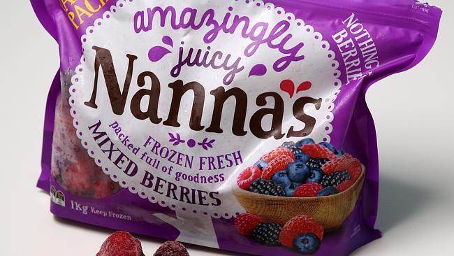 ผลไม้เบอร์รี่หลากชนิดแช่แข็งยี่ห้อ Nannas ขนาด 1 กก.ที่ถูกกระทรวงสาธารณสุขพบมีเชื้อไวรัสตับอักเสบเอเจือปน