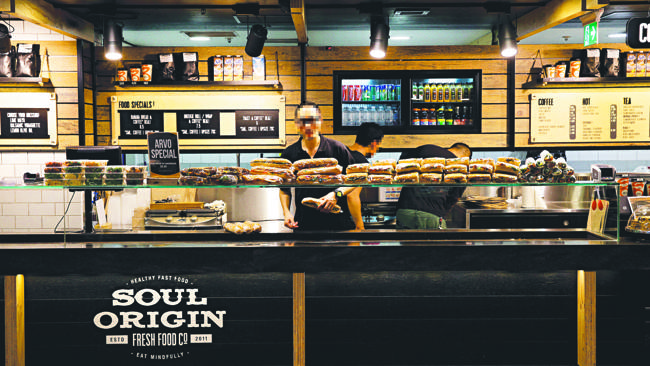 ร้านคาเฟ่เทคอะเวย์  Soul Origin ใกล้ Town Hall ชิดนีย์ (ภาพชั่วคราวจากนสพ. the Telegraph)