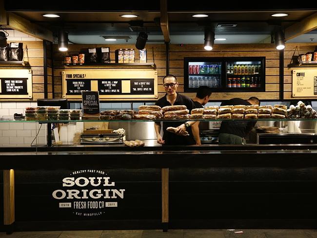 ร้านคาเฟ่เทคอะเวย์ Soul Origin ใกล้ Town Hall ในนครซิดนีย์