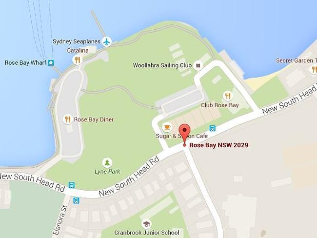 จุดที่เกิดอุบัติเหตุ ที่ Rose Bay