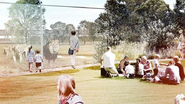 ภาพจำลองสวนสัตว์ที่ Bungarribee Super Park ใกล้ Blacktown