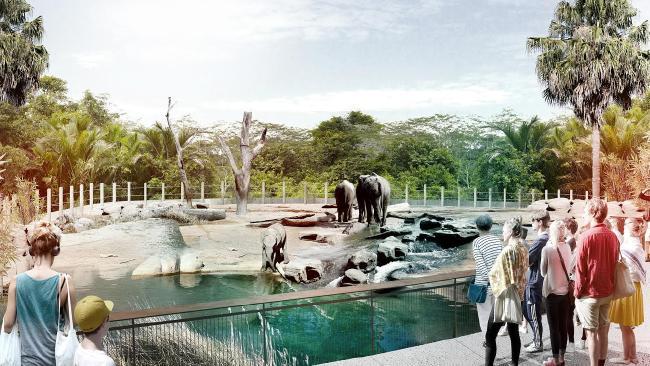 ช้างไทยเมดอินออสเตรเลียก็ถูกนำมาแสดงที่สวนสัตว์ใน Bungarribee Super Park เช่นกัน