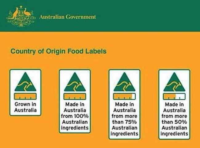 ฉลากแสดงสินค้าอาหารที่ปลูกหรือเลี้ยงในออสเตรเลีย, สินค้าผลิตในออสเตรเลียด้วยร้อยละของส่วนผสมในออสเตรเลีย : ภาพจาก industry.gov.au/cool