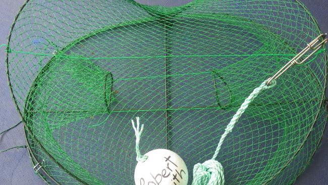 ตะแกรงดักกุ้ง freshwater pot : ภาพจากนสพ. NT News