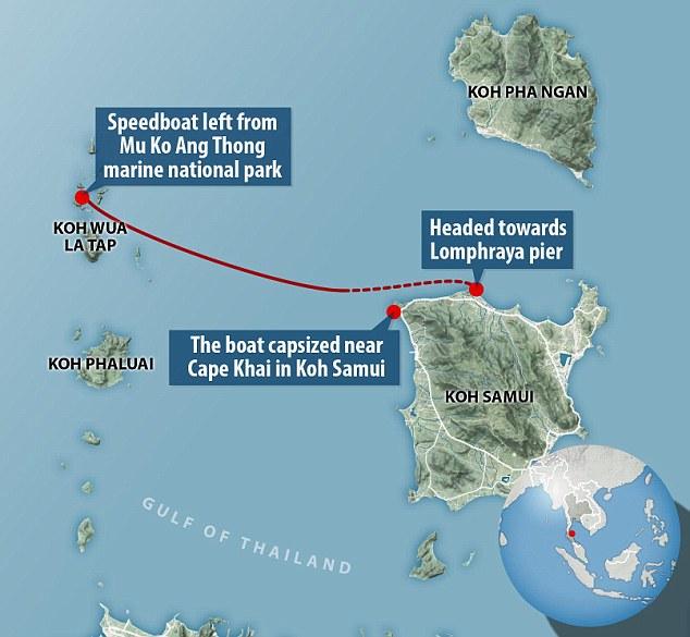 แผนที่แสดงเส้นทางการเดินเรือและจุดเกิดเหตุ : ภาพจาก ecogreendata.com