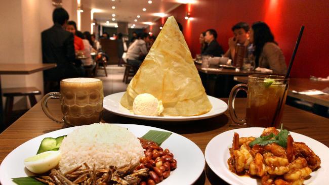 อาหารของร้าน Mamak : ภาพจาก news.com.au