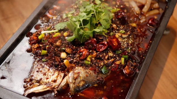 Whole barra in chilli, Sichuan and cumin : ภาพจาก goodfood.com.au