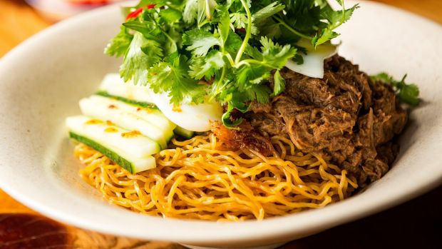Duck egg-noodles : ภาพจาก goodfood.com.au
