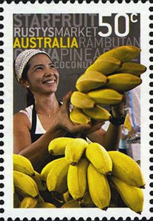 แสตมป์ชุด Banana Seller at Rusty's Market