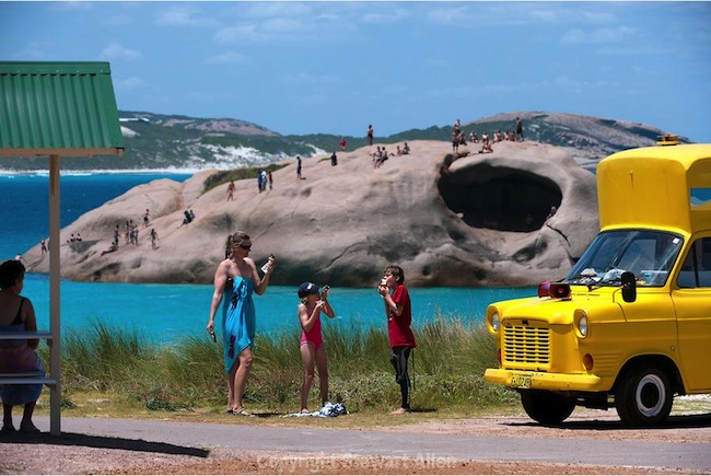 รถขายไอติมที่หาด Twilight Beach เมืองเอสเพอเรนซ์ รัฐเวสเทิร์นออสเตรเลีย