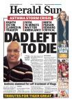 นสพ. The Herald Sun ฉบับ 30 พ.ย. 2016 ลงข่าวมีผู้เสียชีวิตแล้ว 8 รายจากโรค Thunderstorm Asthma วางแผงในตอนเช้า ก่อนที่กระทรวงสาธารณสุขจะออกมาประกาศเตือนในตอนบ่ายของวันเดียวกัน