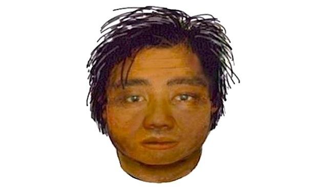 ภาพคนร้ายชาวเอเชียที่สร้างจากเครื่องคอมพิวเตอร์ ตามคำให้การของนักศึกษาสาวผู้ตกเป็นเหยื่อ : ภาพจากสำนักงานตำรวจรัฐวิกตอเรีย