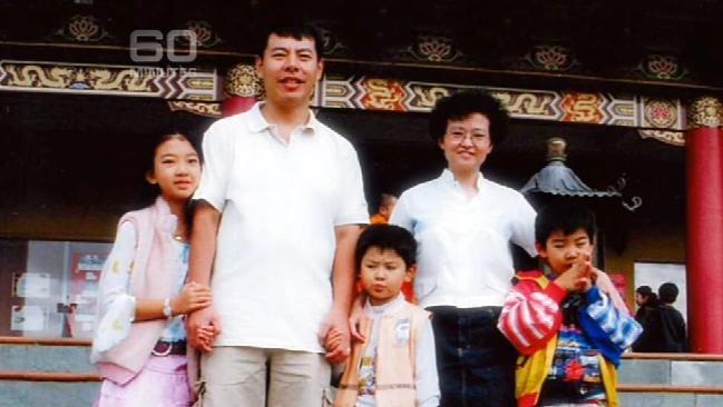 ครอบครัว Lin ในขณะท่องเที่ยววันหยุด ในปัจจุบันเหลือเพียงน.ส. Brenda Lin ลูกสาวคนโต (คนซ้ายมือ) แต่ผู้เดียว : ภาพจากนสพ. The Telegraph