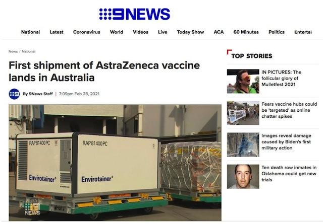วัคซีน AstraZeneca ต้าน COVID-19 มาถึงออสเตรเลียแล้ว - jingjonews